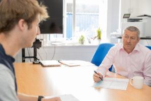 John McHale coaching a client